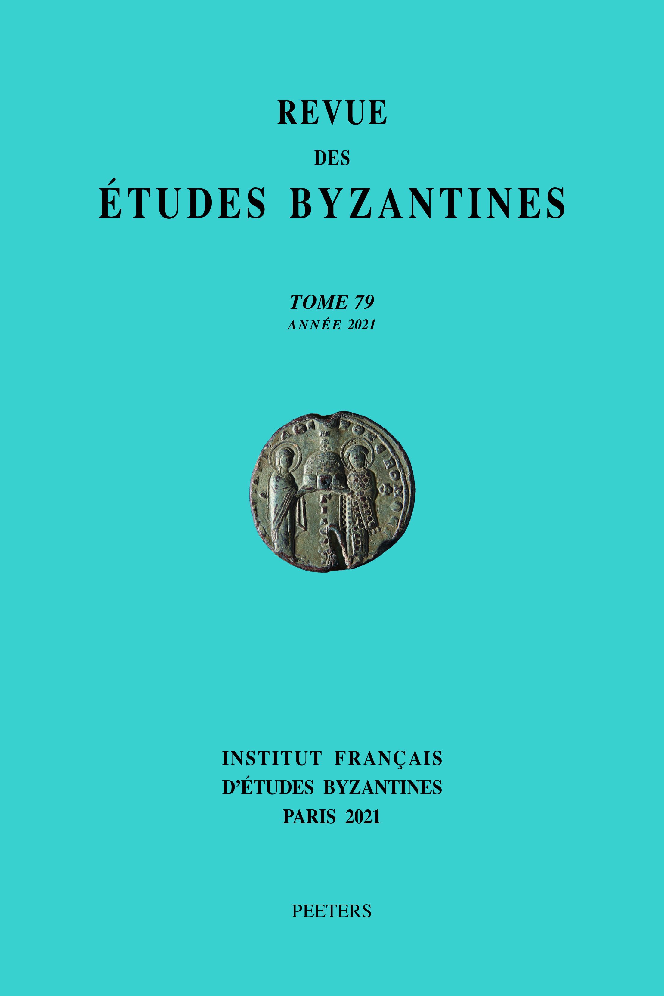 REVUE DES ETUDES BYZANTINES